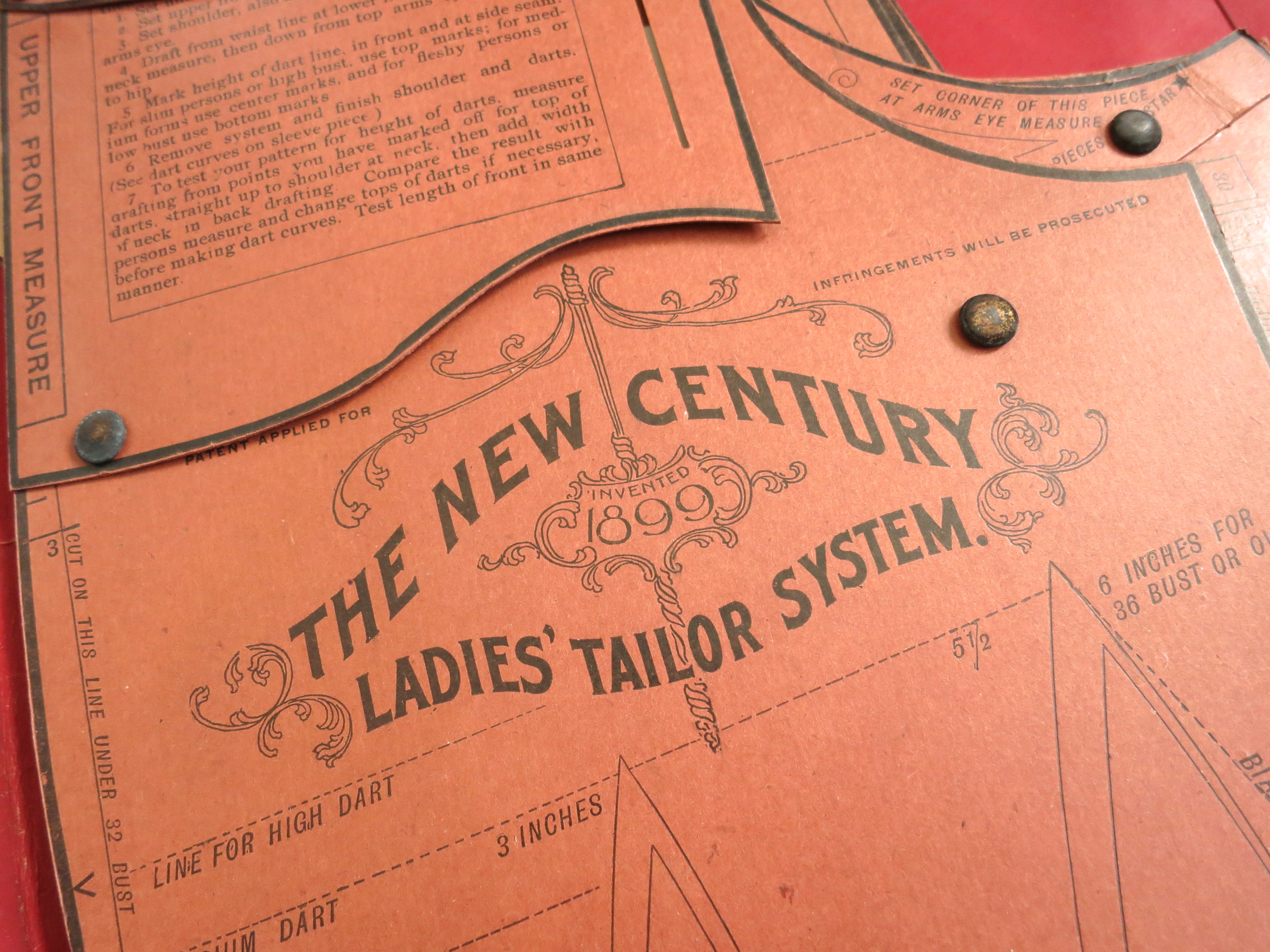 The New Century Ladies' Tailoring System 1899: Detail.