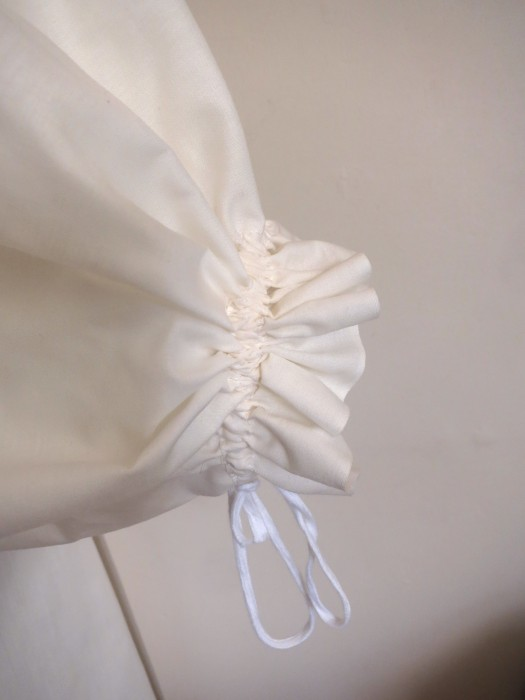 Bride's chemise sleeve detail.