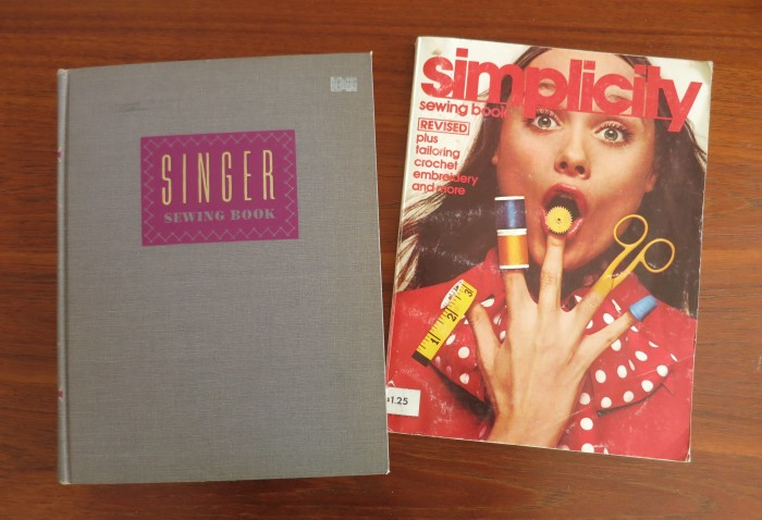 Singer Sewing Book (1954) and Simplicity Sewing Book (1972) the latter with some disturbing photoshopped fingers...
