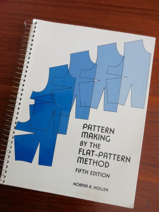 Pattern drafting book for the sewing room reference library.