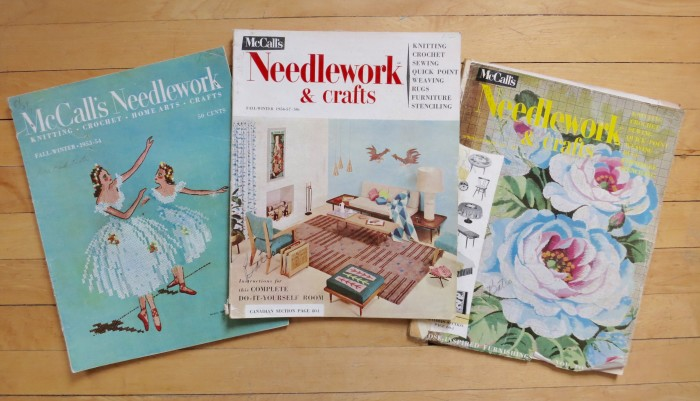 1950s McCall's Needlework and Crafts magazines.