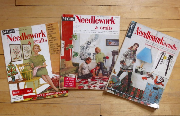 1960s McCall's Needlework and Crafts magazines.