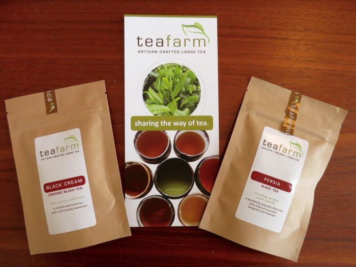 Tea from the Teafarm in the Cowichan Valley, Vancouver Island. (They are actually trying to grow tea there but it won't be ready to harvest for another few years)