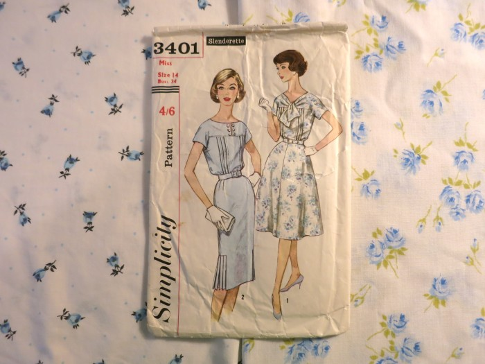 Simplicity 3401 with possible fabrics.