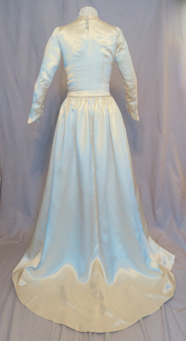 Original 1949 Wedding Gown back view