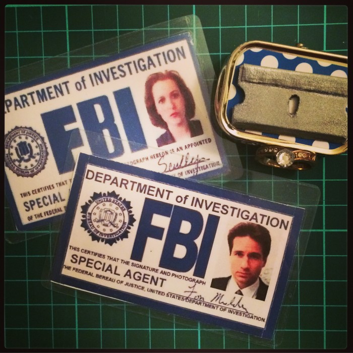 Theatre Props (x-files badges and fake razor)
