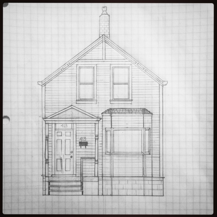 #nerdalert Scale drawing of the #newoldhouse