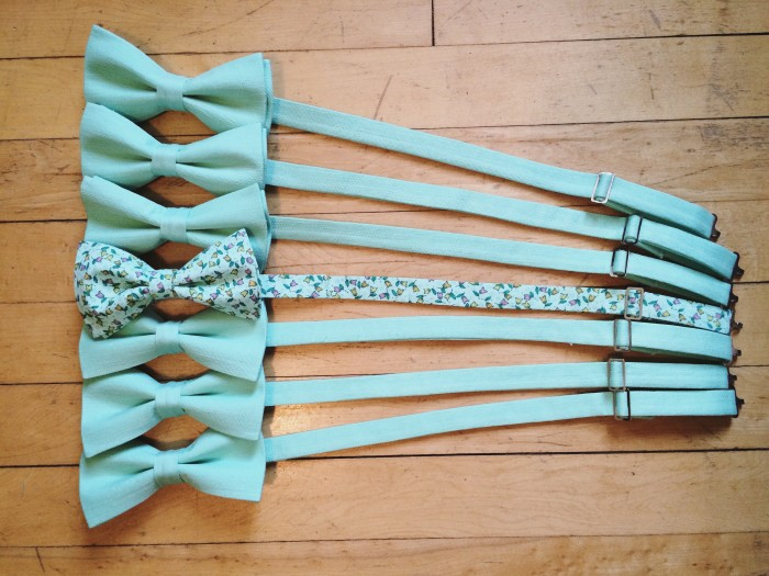 Custom Bow ties for Groomsmen and Groom by HLB