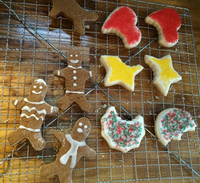 Gingerbread people and 'ABC' sugar cookies. All GF and EF.