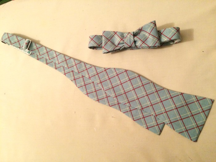 Custom bow tie and matching child's version by HLB