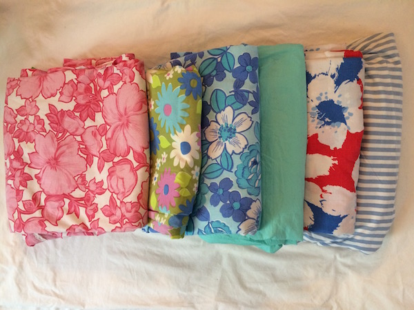 Vintage cottons and sheets stash.