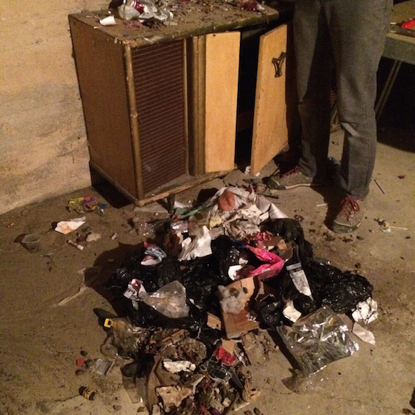 The pile of garbage that had been stuffed down a heating vent... #gross