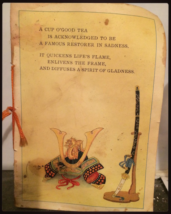 A little booklet all about tea!