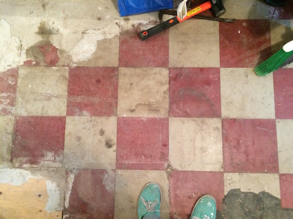 One of the kitchen floors.